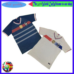 white navy uniforms Promo Codes - 2019 2020 France home Away MBAPPE GRIEZMANN POGBA men Soccer jersey French Navy white Football 19 20 Football Uniforms