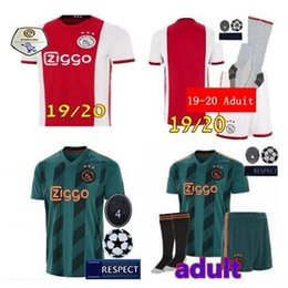 d9379de309d 19 20 aduit kit ajax Home soccer Jersey KLAASSEN DOLBERG MELIK DIJKS EL  GHAZI YOUNES Top quality 2019 2020 Jerseys Ajax football shirts