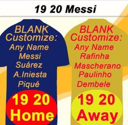 Camisetas fluorescentes online-2019/20 # 10 MESSI # 3 PIQUE # 9 SUAREZ Home Jersey # 7 COUTINHO # 11 O.DEMBELE camiseta de fútbol Away Fluorescent Green Futbol Shirts