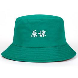 2020 boonie sombreros verde Dos parodia lateral reversible verde sombrero del cubo de mujeres de los hombres que pescan la gorra de caza Bob Caps Beach Suncreen para boonie verano boonie sombreros verde baratos