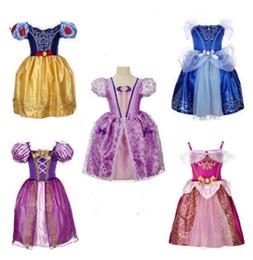 ropa de la vendimia china Rebajas 9 colores vestido lindo de la muchacha de algodón púrpura princesa aurora flare manga vestido vintage flor vestido niños ropa envío gratis BY0696