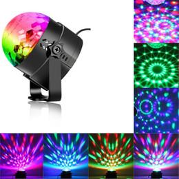 luci laser mini attive Sconti LED degli Stati Uniti Stock Disco Ball Strobe partito Luci da discoteca karaoke macchina 3W Dj luce portatile RGB attivato suono Stage Lights Festival