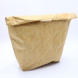 mittagessen taschen für männer Rabatt Sommer Picknick Taschen für Frauen Männer Kid Wasserdichte Isolierung Lunch Bag Thermische Lebensmittel Taschen Kühler Falten Kraftpapiertüten QW9720