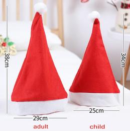 Venda quente vermelho e branco Papai Noel Chapéus baratos Adultos e Crianças Snowman Suprimentos decorações de Natal em stock de
