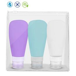2019 spray nano argent 60ml 90ml Bouteille Portable silicone Voyage d'emballage Rechargeables Presse Pour Shampooing Gel désinfectant pour les mains cosmétiques COMPRESSION Conteneurs