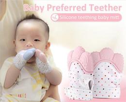 2020 luvas de bebê recém-nascido Silicone Teether Bebê Luva de Chupeta Do Bebê Teething Luva Newborn Luvas de Enfermagem Crianças Teether Chewable Enfermagem Contas Y285 luvas de bebê recém-nascido barato
