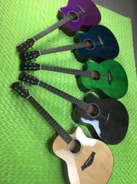 trasporto libero 41 pollici di fiori di pesco abete lucido singola chitarra singola, una varietà di sfregamento chitarra acustica impiallacciatura da pesca varietà fornitori