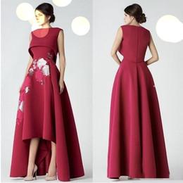 vestiti di kobeisy sapone Sconti Elegante Plus Size Lace High Low Prom Dresses 2019 Saiid Kobeisy Abiti da Festa Occasioni speciali Abiti da sera Celebrity Gown