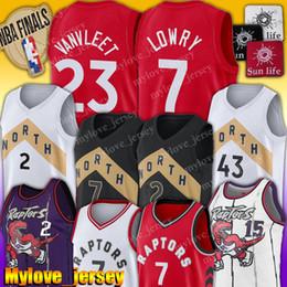 Raptors 2 Kawhi Leonard Jersey Kyle Lowry 7 maglie Pascal 43 Siakam pallacanestro Jersey Fred 23 VanVleet Vince Carter 15 Jersey da maglia di lana d'epoca fornitori