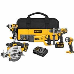 Kit d'outils premium en Ligne-DEWALT DCK592L2 Kit complet haut de gamme sans fil 5 outils 20V MAX