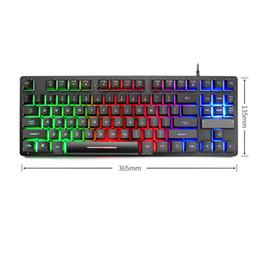 87 Key Gaming Keyboard Mechnical Backlight Waterproof Ergonomic durável teclado TU-shop de