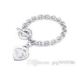 Bracciale in argento online-Spedizione gratuita 925 Hot Tiffany925 argento gioielli moda collana e bracciale confezione regalo originale scatole TS01 Set con scatola CALDO