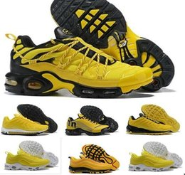 15c9a4a5120b 2019 New 97 Plus 95 TN WMNS MAXes PLUS 97 yellow Men shoe Trainer Maxes  Women Sports Sneakers size 40-46 discount max 46