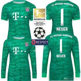 2019 2020 hombres Bayern Munich home Soccer Jersey 19 20 Manga larga Portero Camisa de fútbol NEUER JAMES LEWANDOWSKI Uniforme de fútbol desde fabricantes