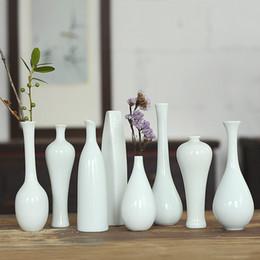 Vasi di bud online-Lusso esclusivo creativo Cina bottiglia di ceramica fatta a mano a casa tavolo da giardino da collezione fiore decorativo vaso di ceramica floreale Bud Vase