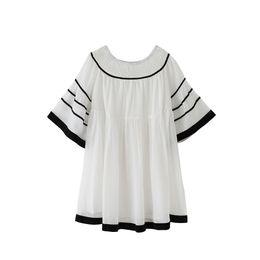 белый черный свободные шифоновое платье flare рукавом старинные партии платья возраст для 8-16 лет большие девочки дети лето принцесса пляжная одежда cheap vintage black white princess от Поставщики старинная черно-белая принцесса