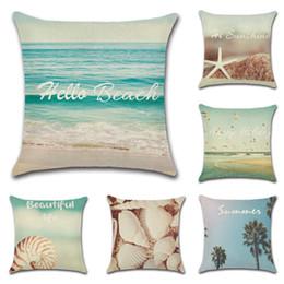 travesseiros de oceano Desconto Almofada Covers Ocean Beach Decorativo Fronha Havaí Tema Throw Pillow Covers Sofá Do Carro Decoração de Casa 6 Cores YW2934 Opcional