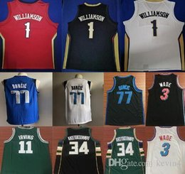 2019 damian lillard NCAA Zion 1 Williamson Camisas Dwyane 3 WADE Damian 0 Lillard Giannis 34 ANTETOUNOGO 77 DONCIC 11 Irving College Mens Jersey desconto damian lillard
