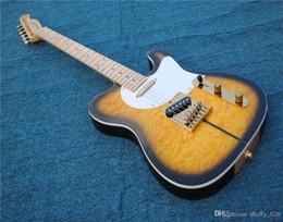 2020 violão coreano O envio gratuito de guitarra elétrica conjunto de hardware de ouro em, acolchoado top maple headmachine joint coreano sintonia sunburst guitarra guitarras desconto violão coreano