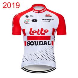 Shorts de loto en Ligne-Lotto Soudal Team Cyclisme Maillot Cuissard manches courtes Ensembles 2019 Vente en gros - Hot Pro Men \ 'S Nouveau N0301904