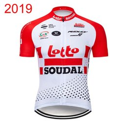 Camisa de lote on-line-Lotto Soudal Equipe Ciclismo Mangas Curtas Jersey Bib Shorts Sets 2019 Atacado-Hot Pro Men \ 's Novo N0301904