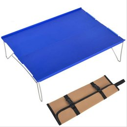 складные столы для пикника Скидка Мини Алюминиевый складной стол Портативный Открытый Пикник Вечеринка Питание Отдых на природе Столы
