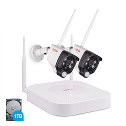 security system hdd Promo Codes - Tonton 1080P Wireless NVR kit CCTV System 2MP 4CH HD Outdoor IR Night Vision IP Wifi Camera Security System Surveillance 1TB HDD