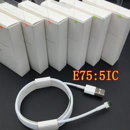 Cavo USB originale di dati del chip OD 3.0mm dell'originale genuino E75 per il iPhone 6s 7 8 X più ipad con la scatola al minuto da