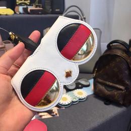 lindas gafas de sol para niñas Rebajas 2019 Teenage Girl Cute Cartoon Animal Gafas de sol Case Mujer Portable PU Leather Sunglasses Case