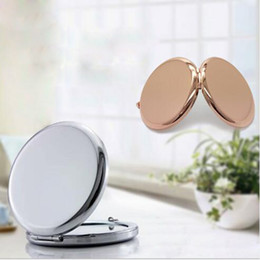 blank mirrors Coupons - Wholesale 500Pcs 70MM High Quality Blank Compact Mirror Silver & Golden Makeup Mirror -DHL Free Shipping