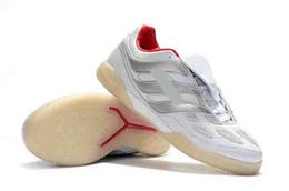 2019 sapatos de couro beckham 2019 mens Predator precisão IC X Beckham futebol chuteiras Predator Precision sapatos de futebol de salão Mania Champagne turf futebol botas sapatos de couro beckham barato