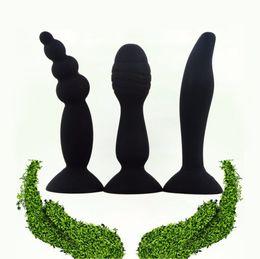perlas masculinas Rebajas Masturbador masculino Granos anales Dildo Ano Masaje Butt Plug G-Spot Estimular el sexo anal para mujeres 5 colores