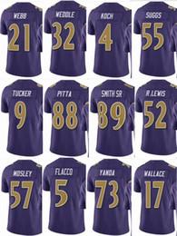 RAVENS Baltimore  57 CJ Mosley  52 Ray Lewis Mens  55 Terrell Suggs  9  Justin Tucker  5 Men Women Youth Color Rush Elite Football Jerseys 8e4911e26