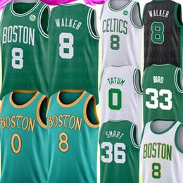 2019 camisetas de baloncesto marrón 8 Kemba Walker Mens Universidad de New Jersey 33 NCAA Larry Bird Jayson 0 Tatum Jaylen 7 Brown 20 Hayward 36 inteligente jerseys del baloncesto camisetas de baloncesto marrón baratos