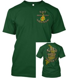 249ab9ce1a377 mens designer t-shirts shirt Eau Navy Brown Vietnam - Tfi 16 Hal 3 Loups de  Mer T-shirt Tagless populaire