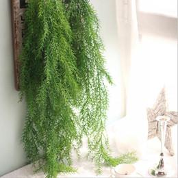 piante fiorite di vite Sconti Fiore artificiale Vine 110CM Decorazioni per la casa Oggettistica per la casa Imitazione Fogliame verde Foglia Ghirlanda Piante Vine Faker Artificiale Corda in rattan