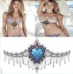 henna tattoo designs beine Rabatt Temporäre Tätowierungen hübsch unter Brusttattoo Zier Diamant temporäre Tätowierung wasserdicht Tätowierung Aufkleber ideal für Ihren Strandurlaub