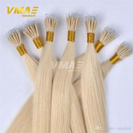 """Extensiones virgin micro del pelo del anillo online-1g / strand 100g Nano Anillo Extensión de cabello 18 """"a 30"""" Recto Micro Anillo Recto Virgin Human Hair VMAE Hair"""