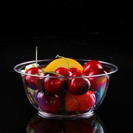 insalata monouso all'ingrosso Sconti Insalatiera usa e getta Ciotola di frutta in plastica da 250 ml Rotonda di forniture per la tavola trasparente da cucina Trasporto libero all'ingrosso QW9162