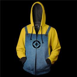 vestuário de homem amarelo Desconto Nova Marca Mens Hoodies Amarelo Me Camisola Cosplay Mulheres HipHop 3D Impresso Zipper Homens Treino Para O Transporte