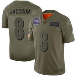 2019 jersey patriota negro 8 Lamar Jackson Cuervo EE.UU. Bandera 2019 Salute To Servicio Gris Moda estático Limited Jersey