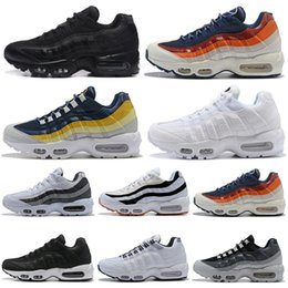 newest 998af fef58 95 max sneakers Promotion Nike Air Max 95 airmax hommes chaussures de course  triple blanc noir