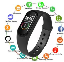 pulseiras de exercício Desconto M4 inteligentes Pulseira Rastreador inteligentes Pulseiras Estilo Waterproof Exercício Pacemaker Heart Rate Outdoor Pulseira inteligente Saúde