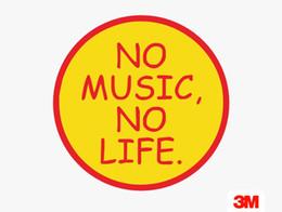 Pas de musique pas de vie valise autocollant ordinateur portable planche à roulettes guitare réfrigérateur voiture étanche 3M autocollant amovible colle sans colle ? partir de fabricateur