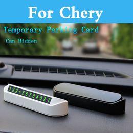 2020 cartão g3 Estacionamento cartão Car Styling Luminous temporária Telefone Para Chery Eastar Fulwin2 A1 A3 A516 QQ3 QQ6 Qqme M1 M5 G3 V5 X5 5x Eq eq1 cartão g3 barato