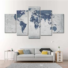 2019 картины спортивные автомобили 5 Штук Комбинации HD Прохладной Карта мира Pattern Unframed Холст Картина украшение стена отпечатанной Картина плакат