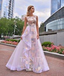 Сиреневое платье выпускного вечера из двух частей онлайн-Две пьесы сирень / шампанское вышивка вечерние платья особый случай платья выпускного вечера платья Homecoming пользовательские размер 2-18 KF1220248