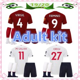 Definir camisetas de futebol on-line-19/20 adulto mens designer de camisas de futebol jersey kit 2019 2020 homens kits de camisa de futebol maillot de pé camiseta de futebol set
