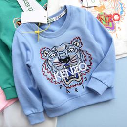 Sudaderas para niños online-2019 NUEVA camiseta de los niños del patrón de chicas Jerseys activos Letters Los hoodies de la marca de ropa infantil para niños de manga larga Top 92530