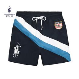 Männer bermuda hose online-Neue Board Shorts Herren Sommer Strand Shorts Hosen Hochwertige Bademode Bermuda Männlichen Brief Surf Life Men Swim